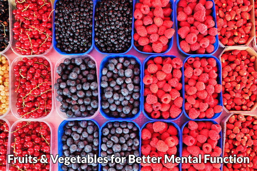 Fruits and vegetables for better mental function