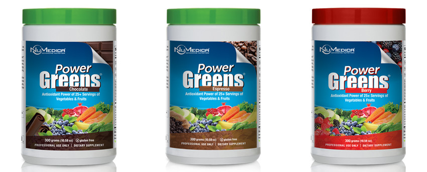 Power Greens powder for athletic people