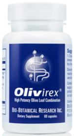 Olive leaf extract capsules (Olivirex)
